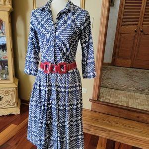 SAMANTHA SUNG VNTG 80s HERRINGBONE DRESS